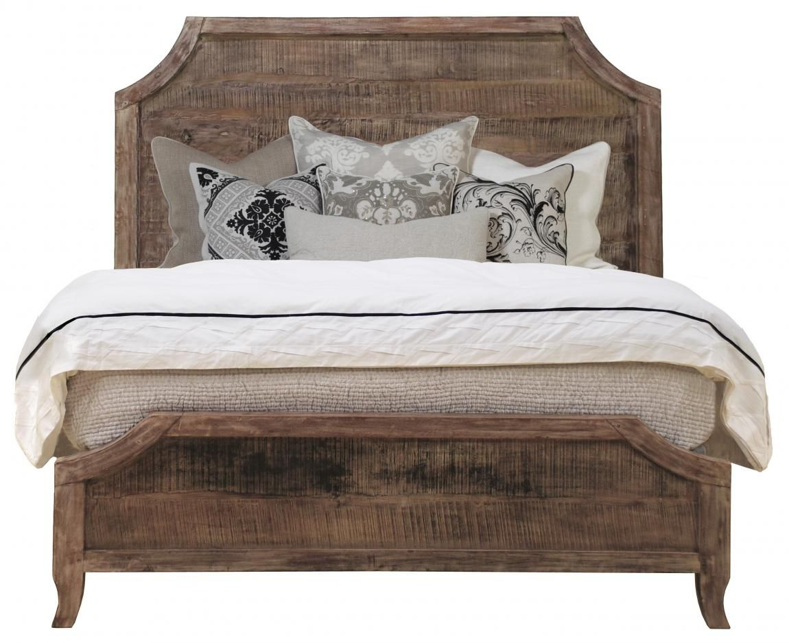 Caelyn Acacia Wood Bed Wood: Acacia | Finish: Natural, Faded ...