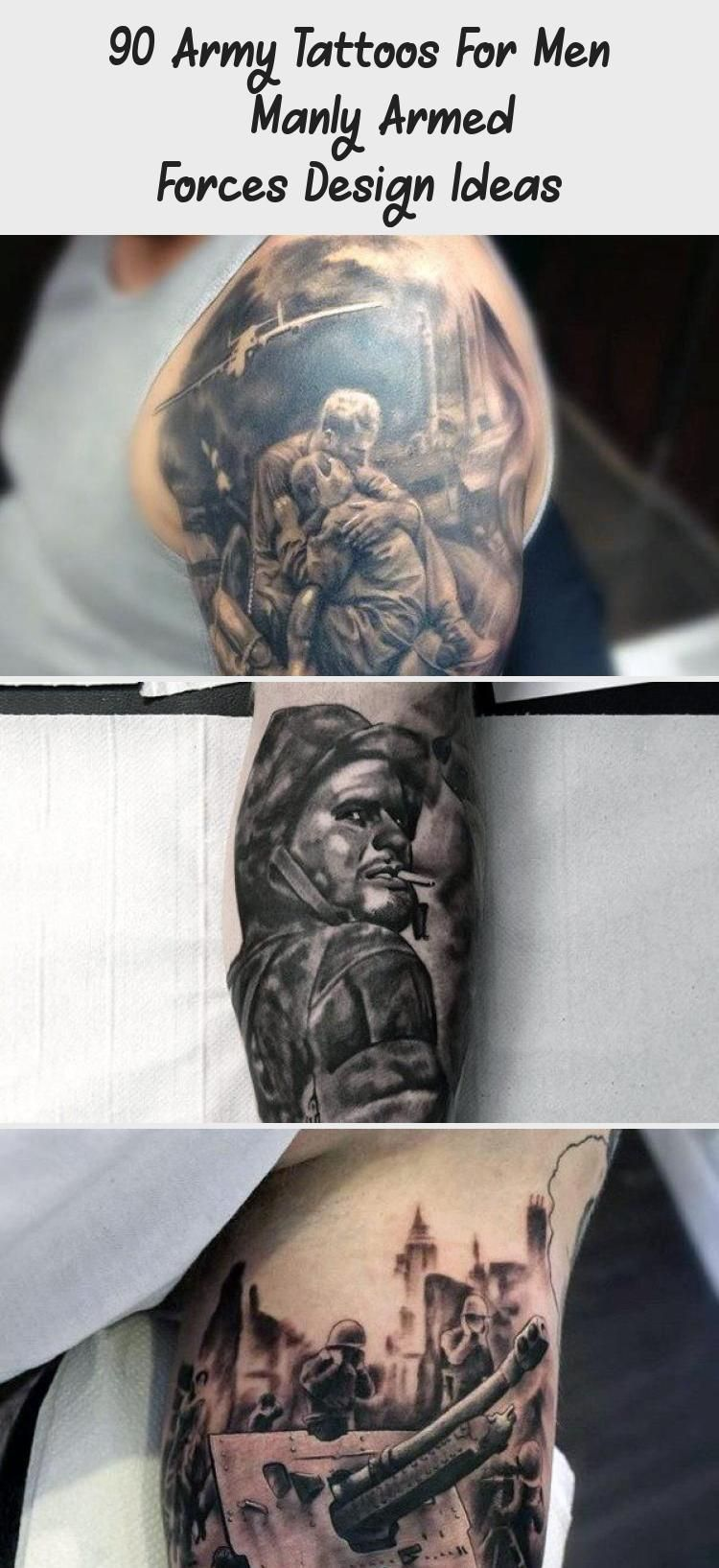 Military Solider Army Mens Half Sleeve Tattoos # ...