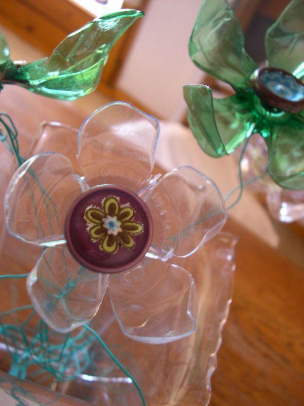 Recyclage Des Bouteilles En Plastique Suite Fleur En Plastique