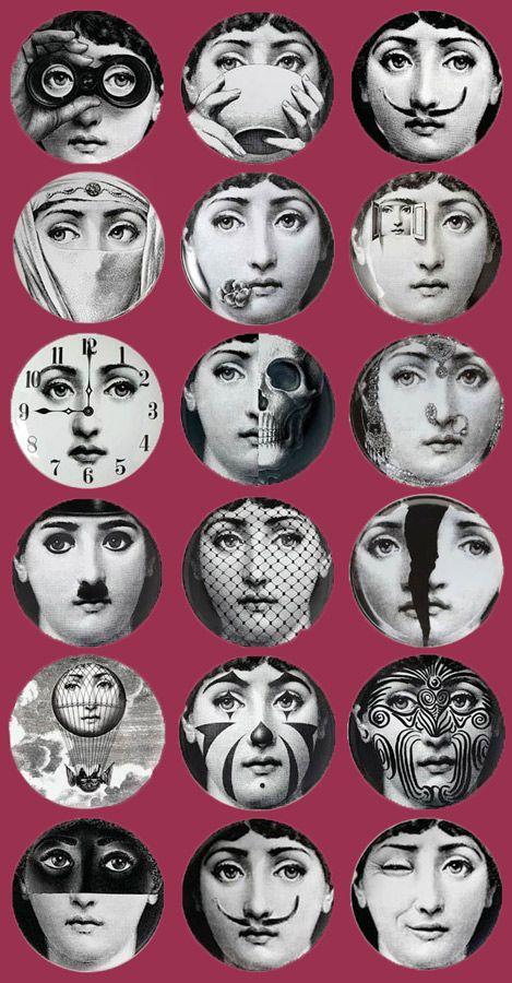 Papier Peint Tema E Variazione Fornasetti | Fluxus' Inspirations