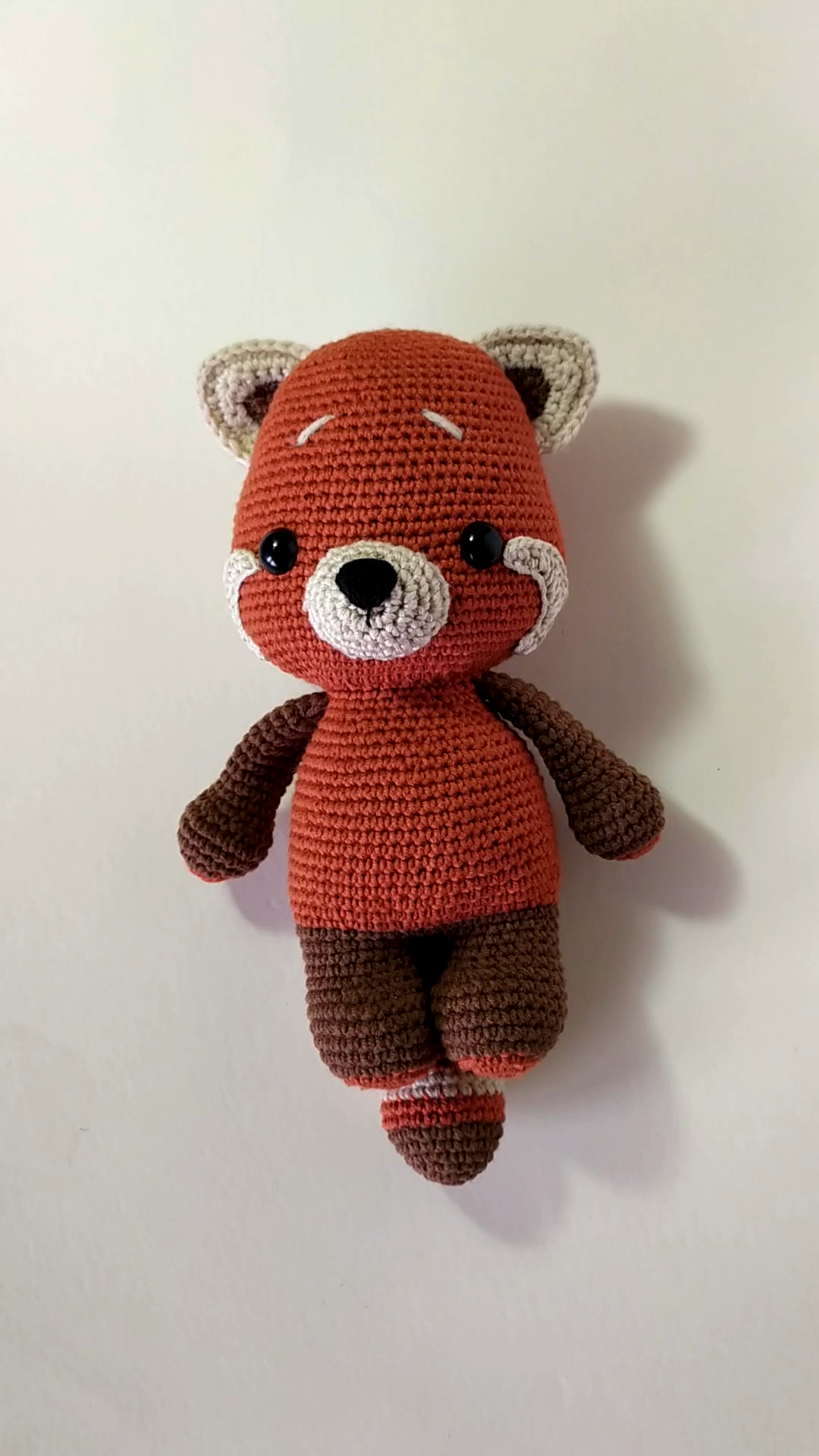 Red Panda in Watermelon outfit from Berry bears amigurumi patterns