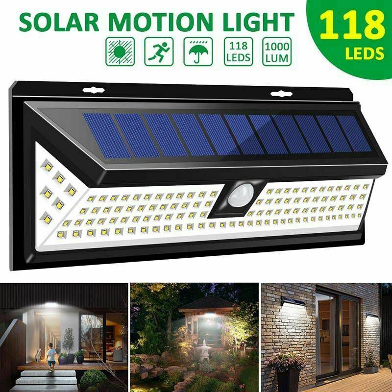 Details About Mpow 118 Led Solar Powered Wall Light Motion Sensor Security Lamp Outdoor Garden Solar Wall Lights Outdoor Solar Wall Lights Solar Powered Lights
