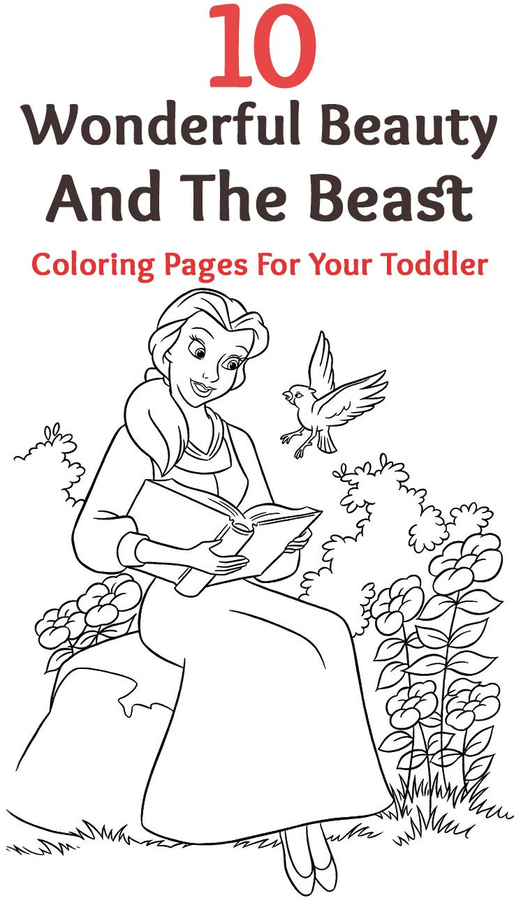 Top 10 Free Printable Beauty And The Beast Coloring Pages Online ...