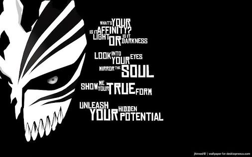 bleach quote for any bleach fans out there p random