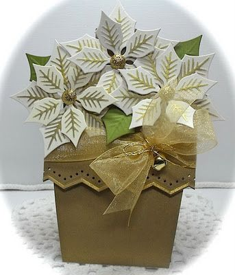 Crafting with Class: Potted Poinsettias...gorgeous, dimentional card!!!