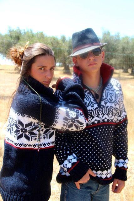 Original South Norweger Pullover 'Estrelas' Blau - Original South