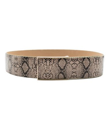 Another great find on #zulily! Gray Snakeskin Kendall Leather Belt by Elise M #zulilyfinds