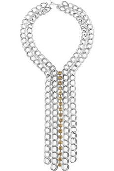 DAY Birger et Mikkelsen | Silver and crystal multi-chain necklace | NET-A-PORTER.COM - StyleSays