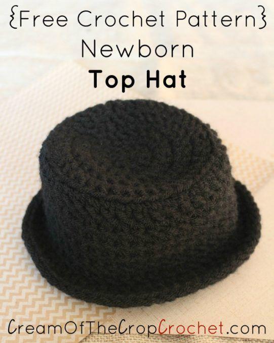 Newborn Top Hat Crochet Pattern | Cream Of The Crop Crochet ...