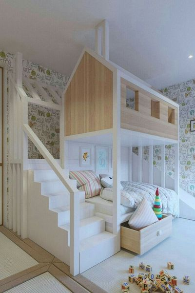15 Bed Selections for Kids Room Design images