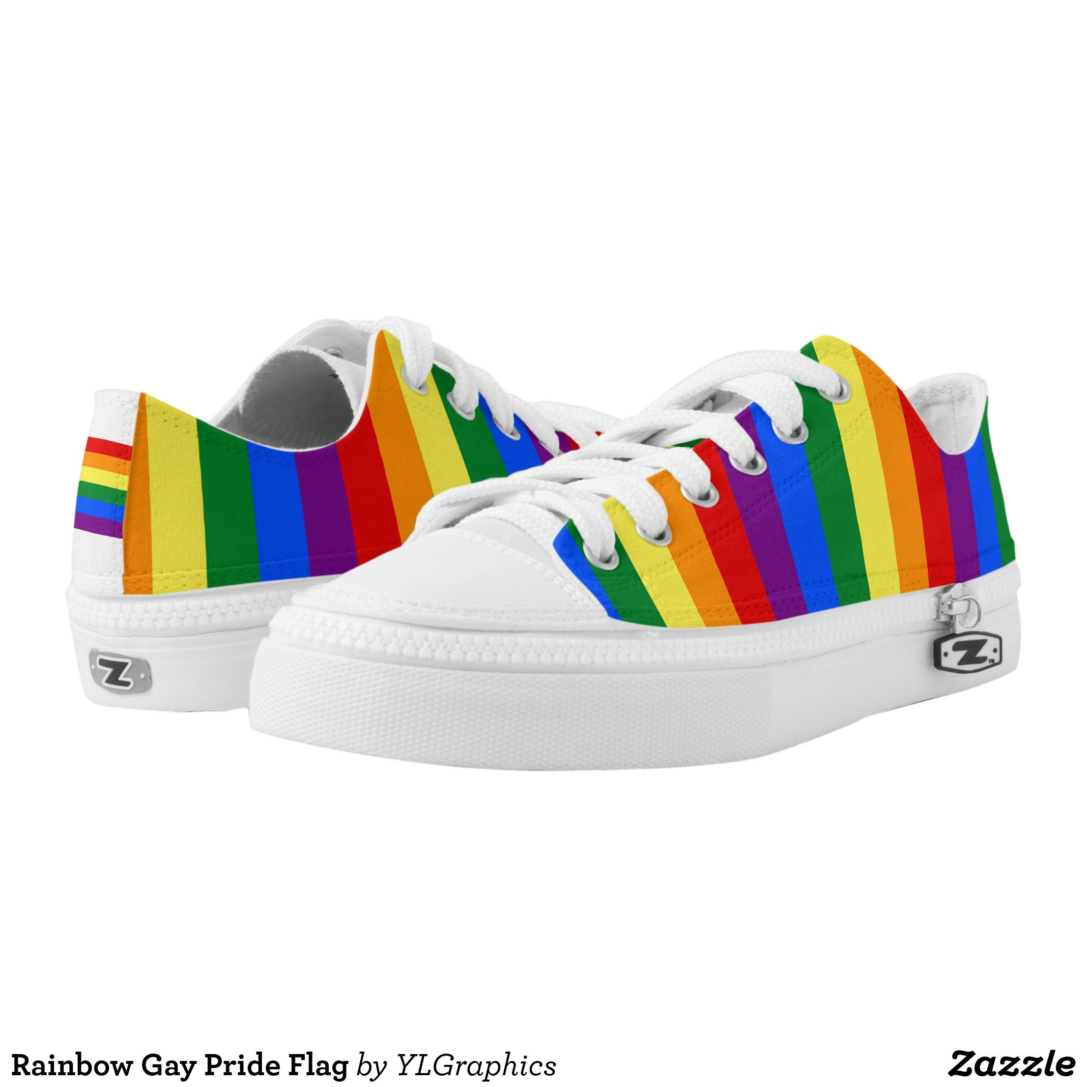 7699e53a2a9b Rainbow Gay Pride Flag Low-Top Sneakers - Canvas-Top Rubber-Sole Athletic  Shoes By Talented Fashion And Graphic Designers - #shoes #sneakers  #footwear ...