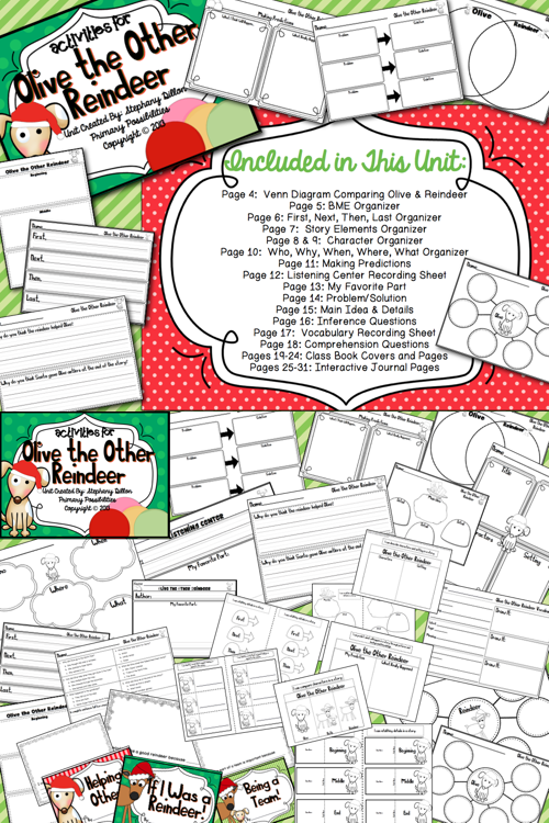 16++ Olive the other reindeer coloring page HD