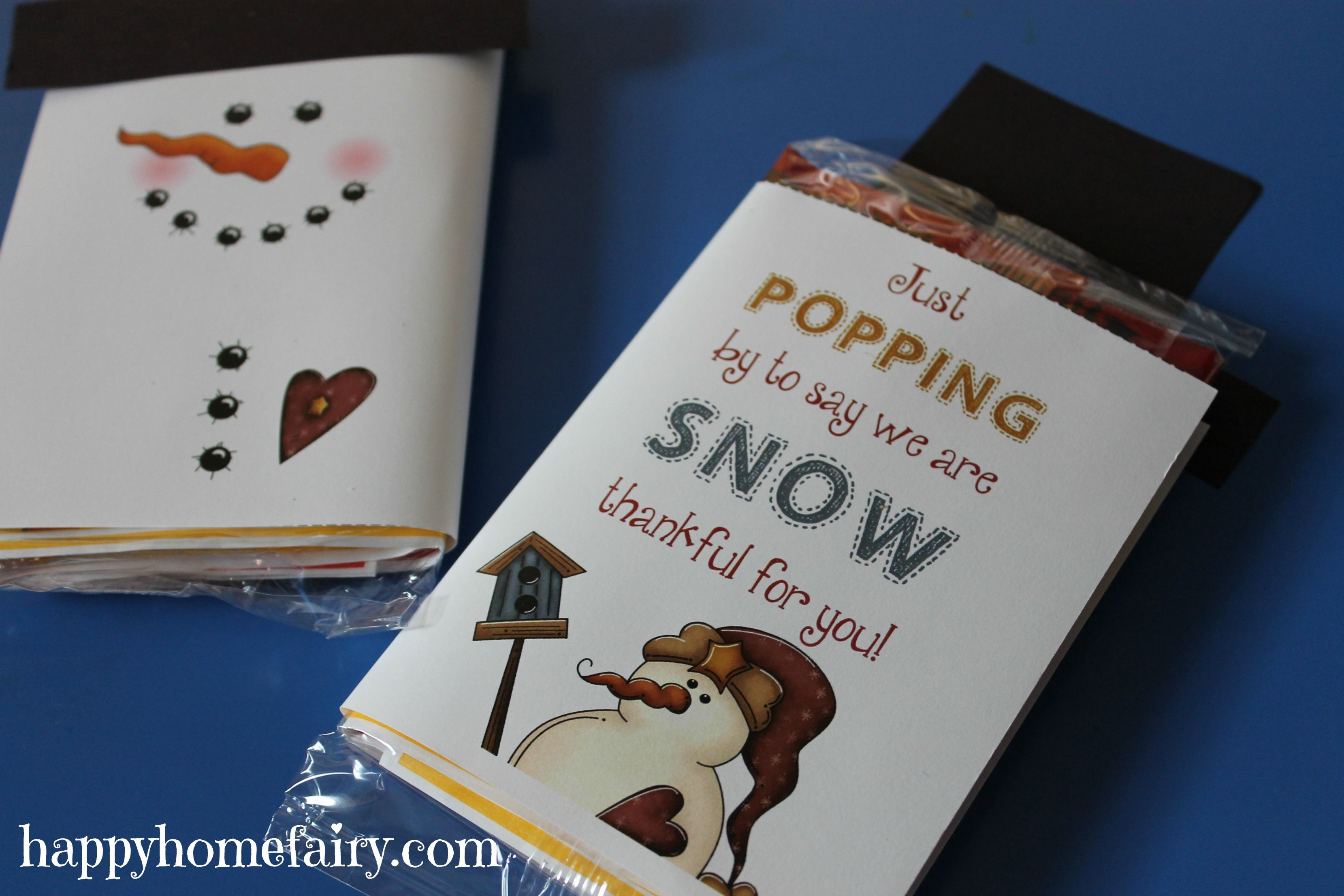 snowman popcorn wrapper free printable more