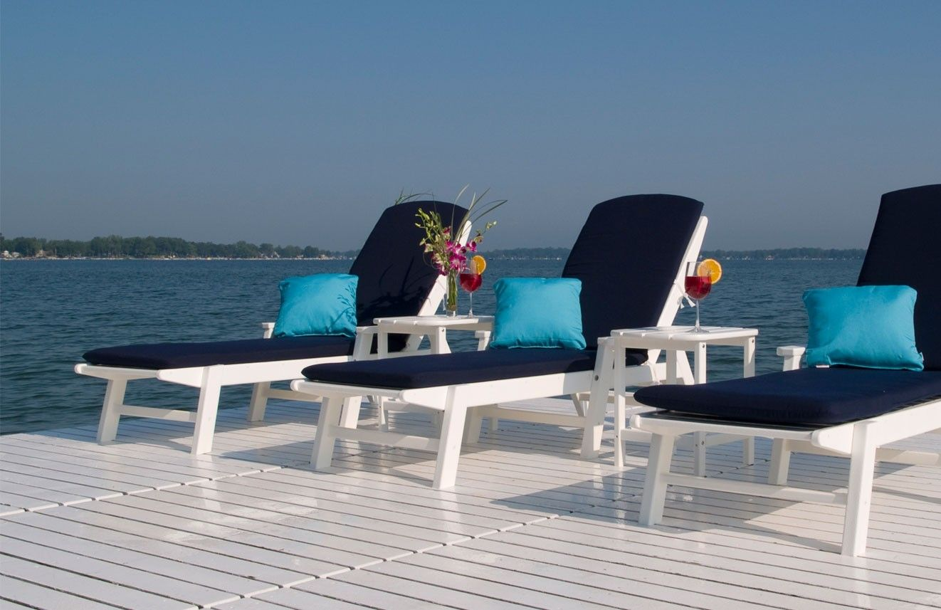 Polywood Nautical Patio Chaise Lounge Set with Frame Finish Choice : polywood chaise lounge - Sectionals, Sofas & Couches