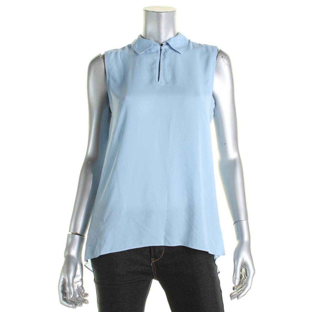 Vince Camuto Womens Sleeveless Keyhole Pullover Top
