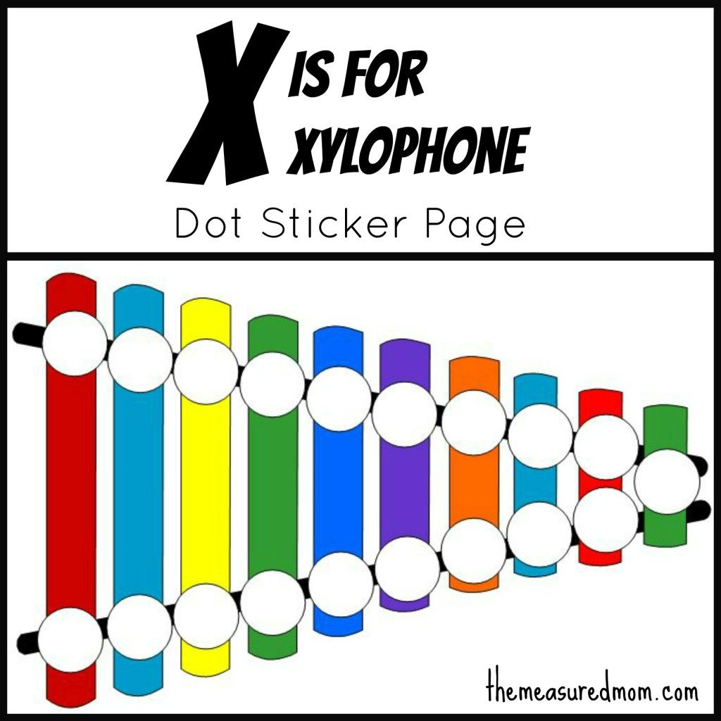 Letter X Printable X Is For Xylophone