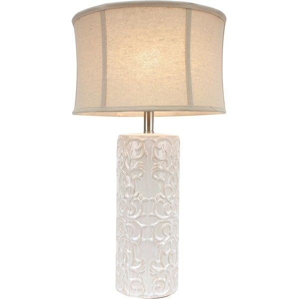 J Hunt And Company White Ceramic Table Lamp 68 Liked On Polyvore Featuring Home Lighting Lamps Contemporary Colored Light