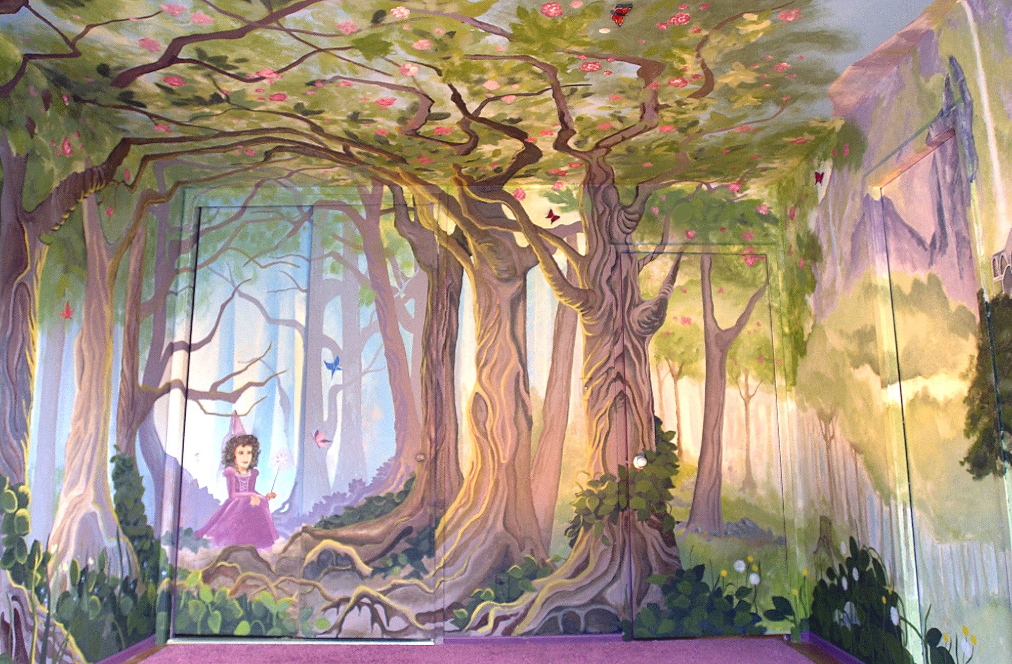 Alyssa morgan murals completely amazing forest fairy for Fairy tale mural