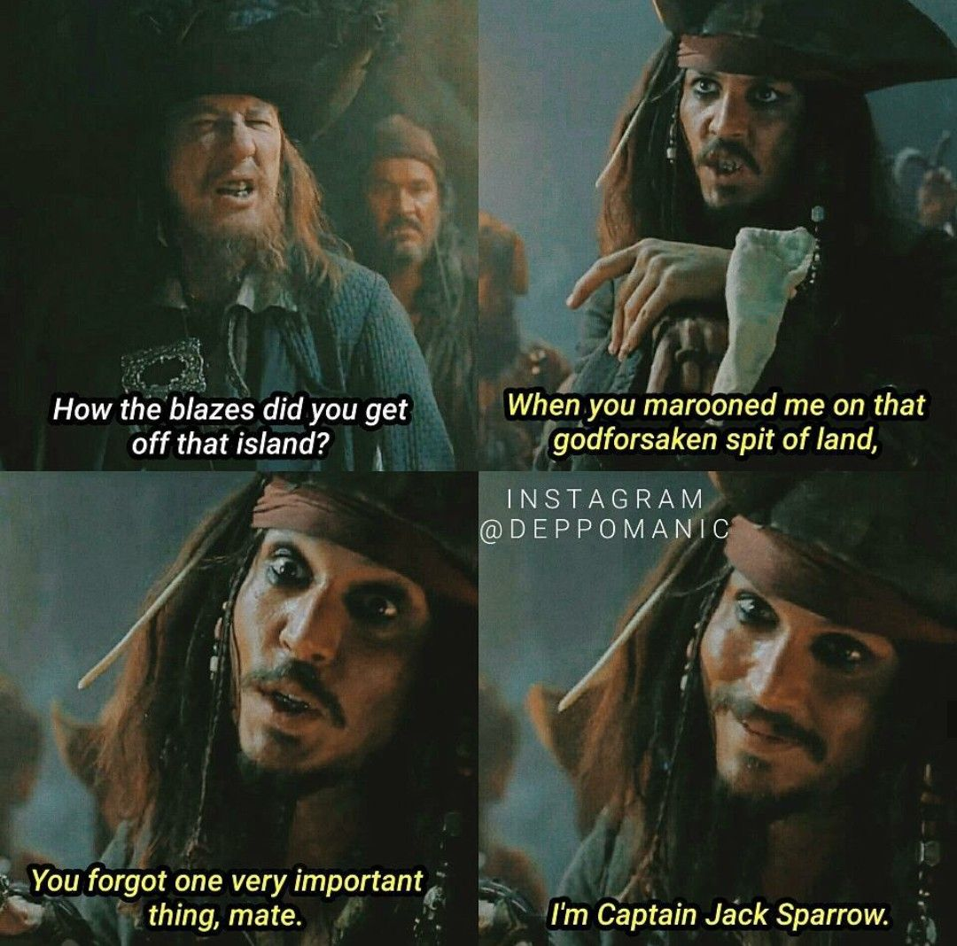 Yeah You Forgot That That One Tiny Detail Johnny Depp Captian