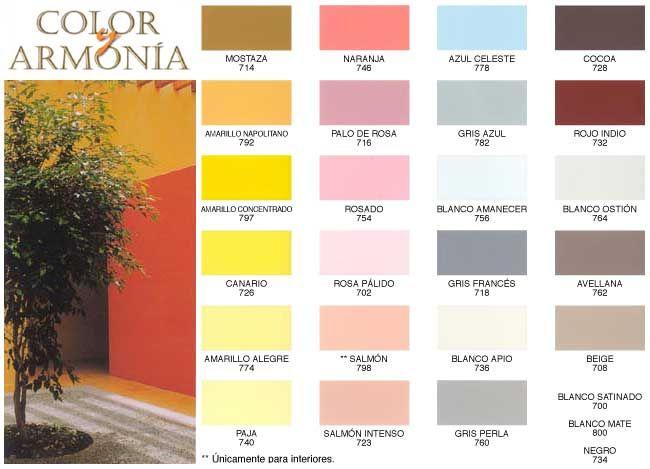 Color y armonia decoration pinterest decoration - Muestrario de colores de pintura ...