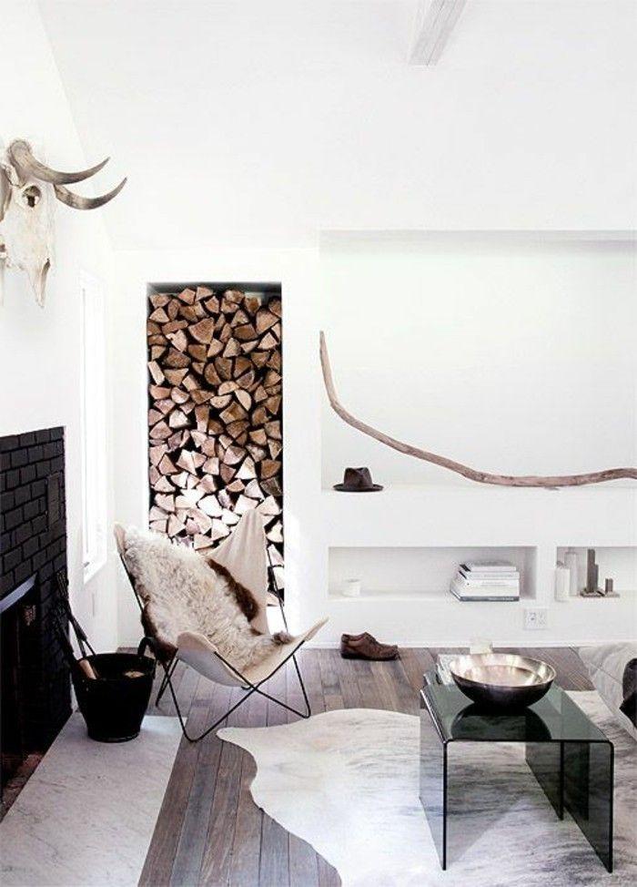 Stile rustico moderno per l\'arredamento di un soggiorno con ...