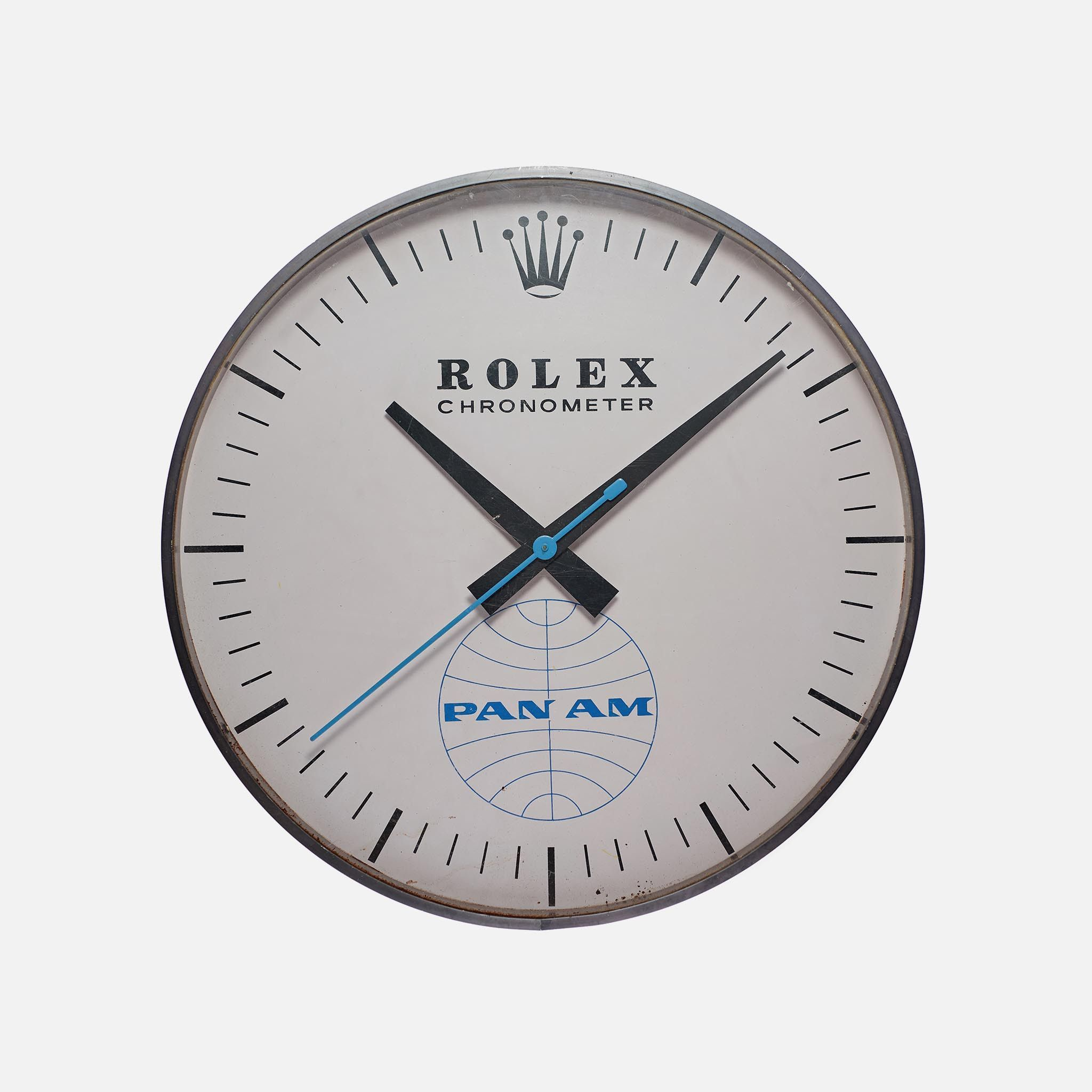 Rolex wall chronometer with pan am logo wall clocks vintage rolex wall chronometer with pan am logo amipublicfo Image collections