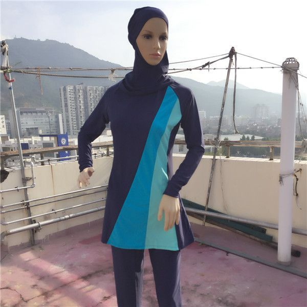 16153205d28 5XL-S Full Coverage Modest Muslim Swimwear Islamic Swimsuit For Women Arab  Beach Wear Muslim Hijab Swimsuits Plus Size