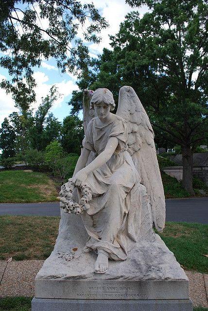 Davis Angel | Stone Angels | Cemetery statues, Angel statues