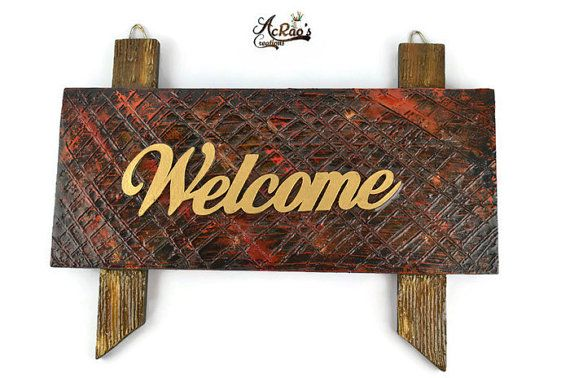 Welcome Sign- Clay texture Finishing