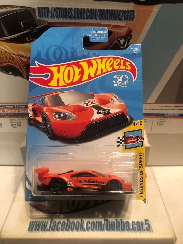 Hot Wheels  Ford Gt Race Legends Of Speed   Orange Hotwheels Ford