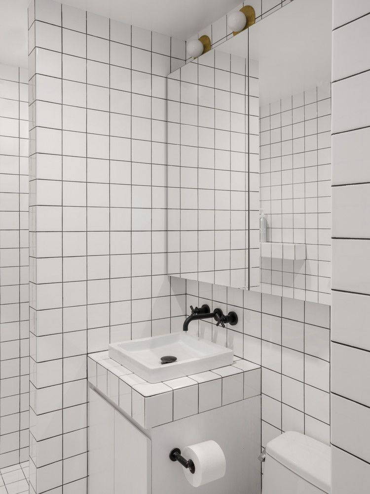 Two Graphic Bathroom Tile Ideas Courtesy Of Tali Roth Bathroom Makeover Small Bathroom Small Bathroom Makeover