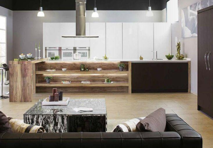 Love The Contrast Of Materials In This #kitchen Homeadore Team Amusing Modern  Sleek Kitchen Design