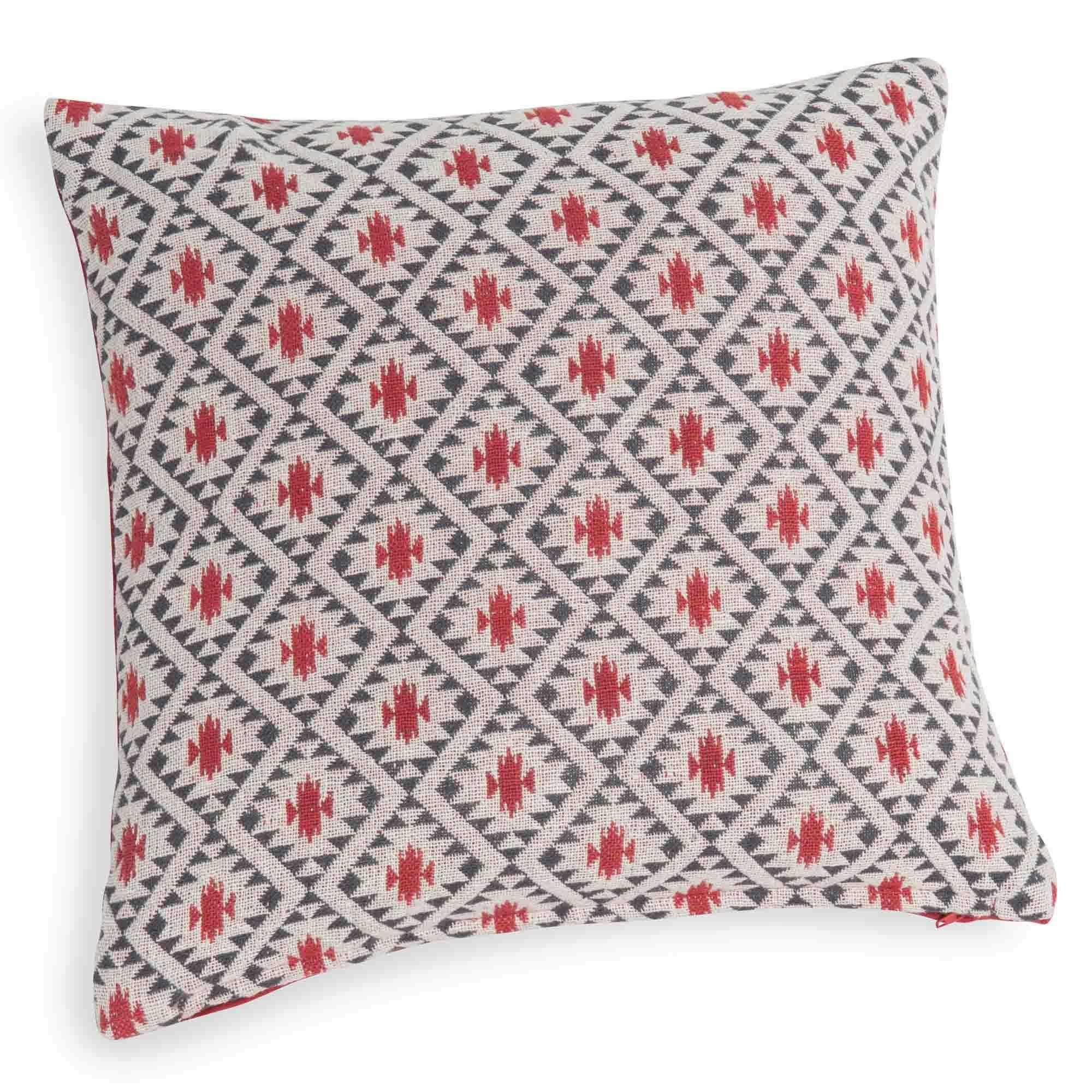 kissenbezug aus baumwolle mit rotem muster 40 x 40 cm jema living pinterest wohnen. Black Bedroom Furniture Sets. Home Design Ideas