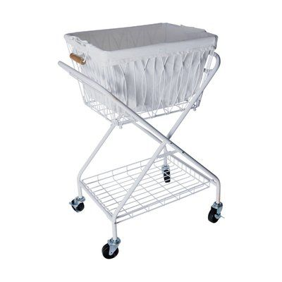 Artesa Verona Collapsible Laundry Cart Removable Basket Canvas