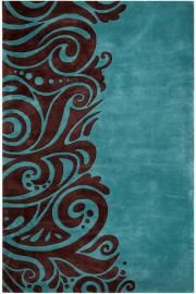 Turquoise and brown area rug for the home in 2019 rugs - Brown and turquoise living room rugs ...