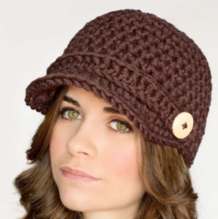 Crochet Newsboy Cap Free Pattern | Newsboy cap, Free pattern and Crochet