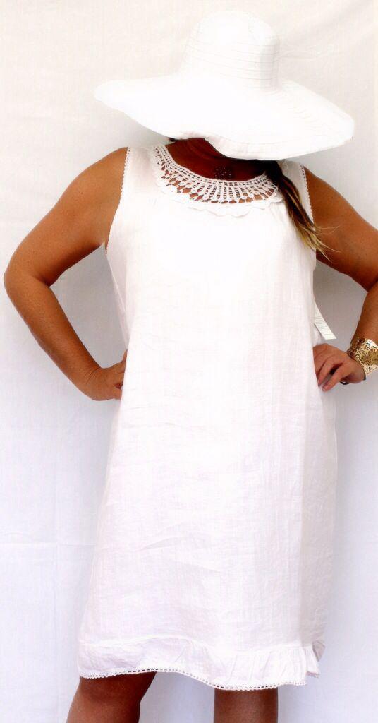 Lin Sue Blanc Grande Robe En Taille Tc3Ful1J5K