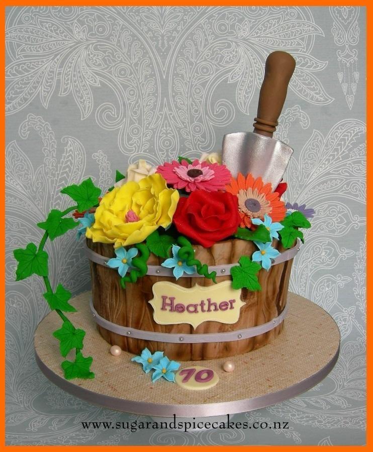 Flower Pot Cake by Mel_SugarandSpiceCakes Flower pot