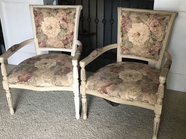 Fantastic Vintage French Style Ornate Accent Chairs For Sale In Squirreltailoven Fun Painted Chair Ideas Images Squirreltailovenorg