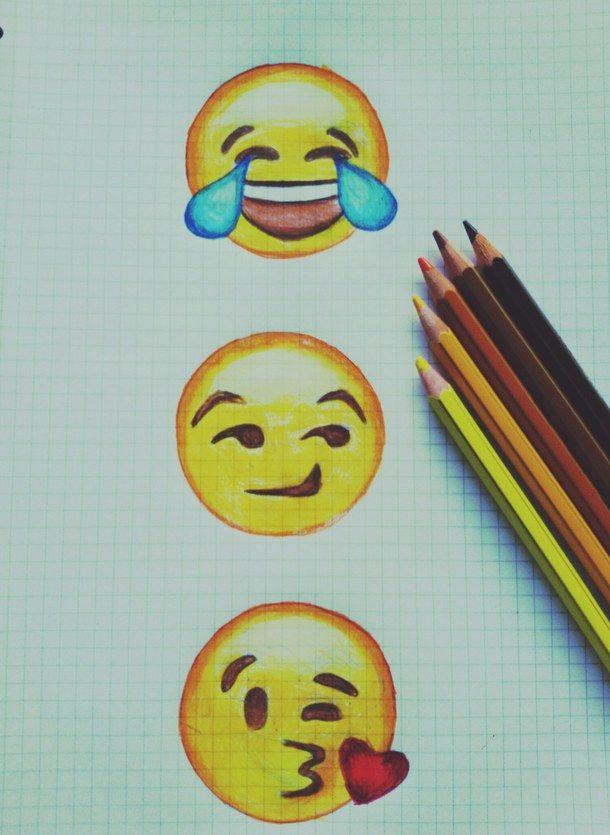 смайлики карандашом картинки цветные подарков, которые