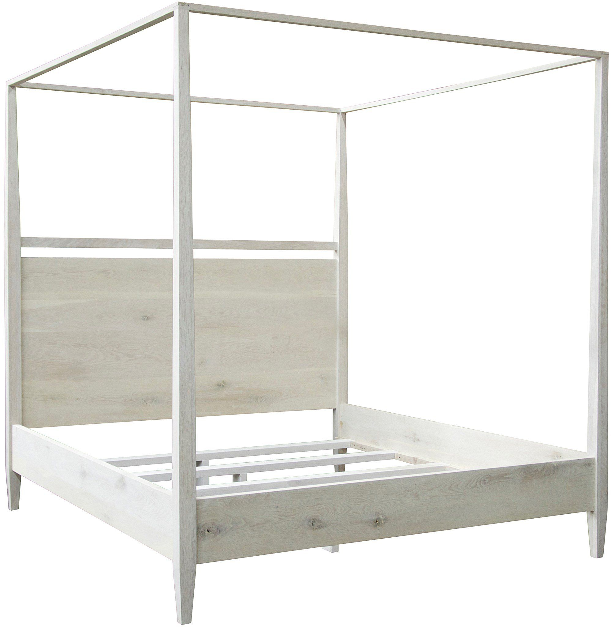 Eastern King White Wash Poster Bed Oak Beds Headboards For Beds 4 Poster Beds
