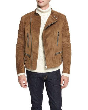 Café+Quilted+Suede+Biker+Jacket+by+TOM+FORD+at+Neiman+Marcus ... 6c406104aaf