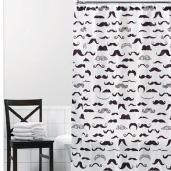 Mustache PEVA Shower Curtain From Kohls I Need This
