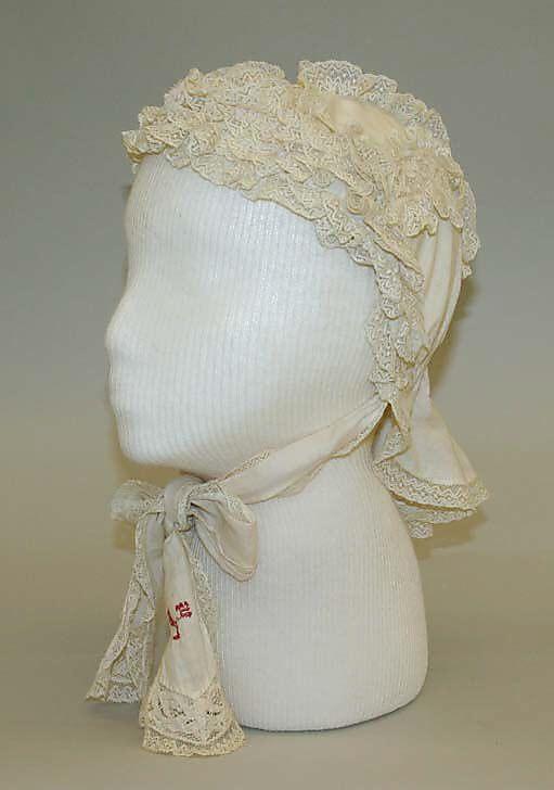 1882 Cap Culture: American or European Medium: cotton