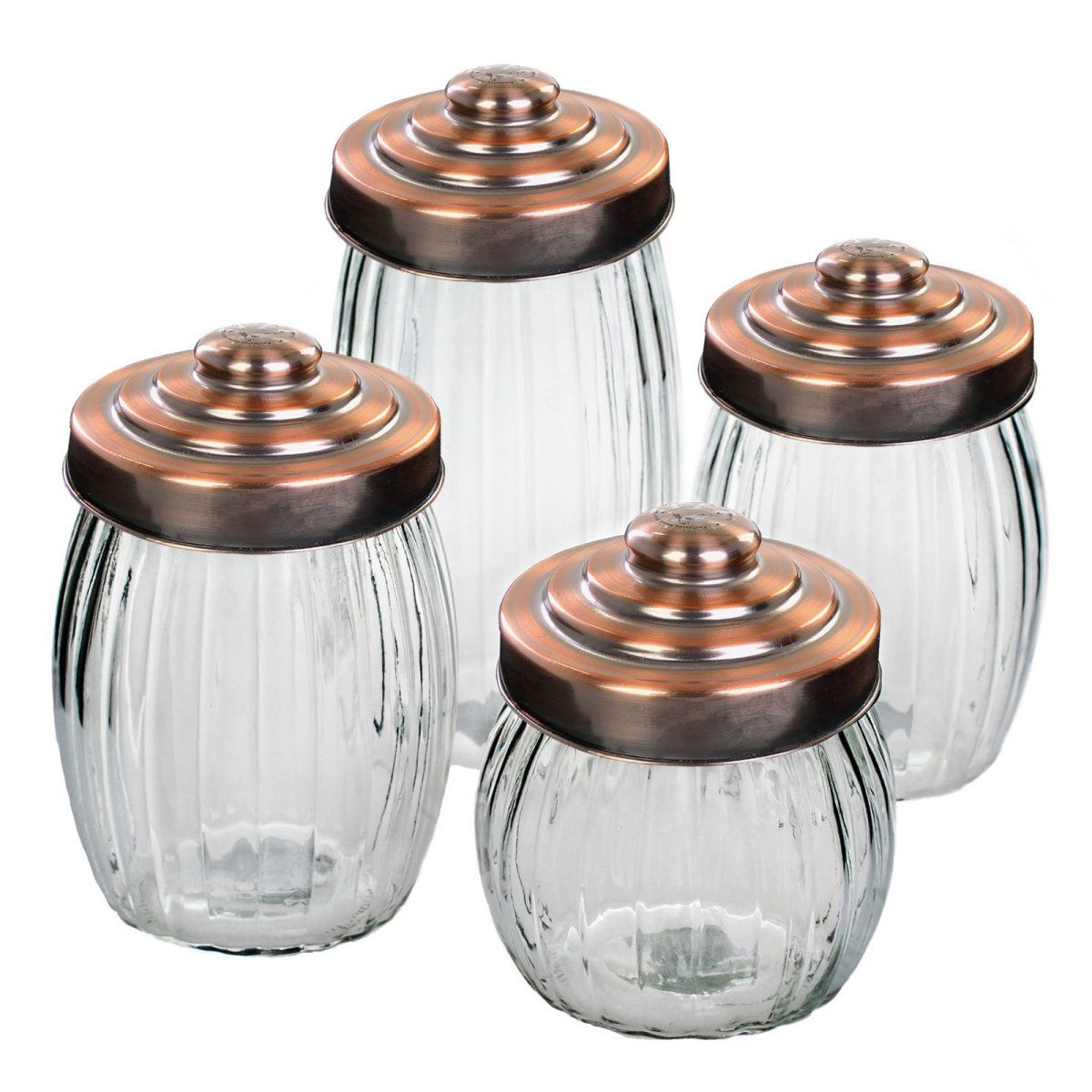 See how storage pieces designed for other rooms in the house transition easily into the bathroom space. The bathroom is a great place to try kitchen canisters as holders for bath salts, or use Global Amici Parthenon Glass Jar - Set of 4 is $44.99