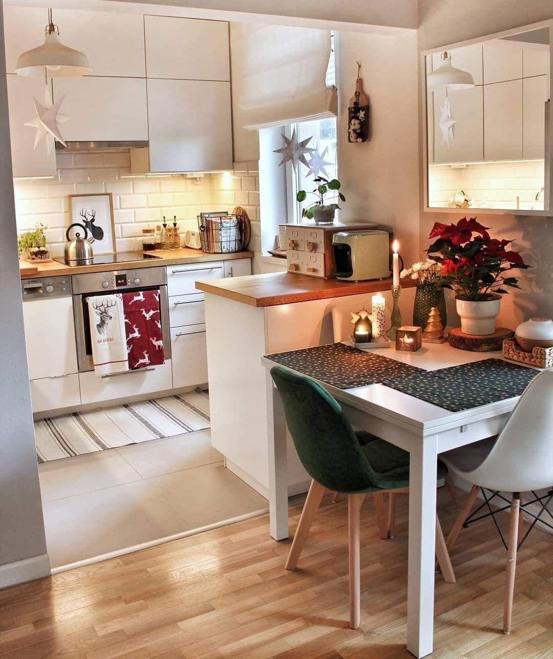 Pin By Cintia Toth On Arrediamo Casa Small Apartment Kitchen Kitchen Design Small Home Decor Kitchen