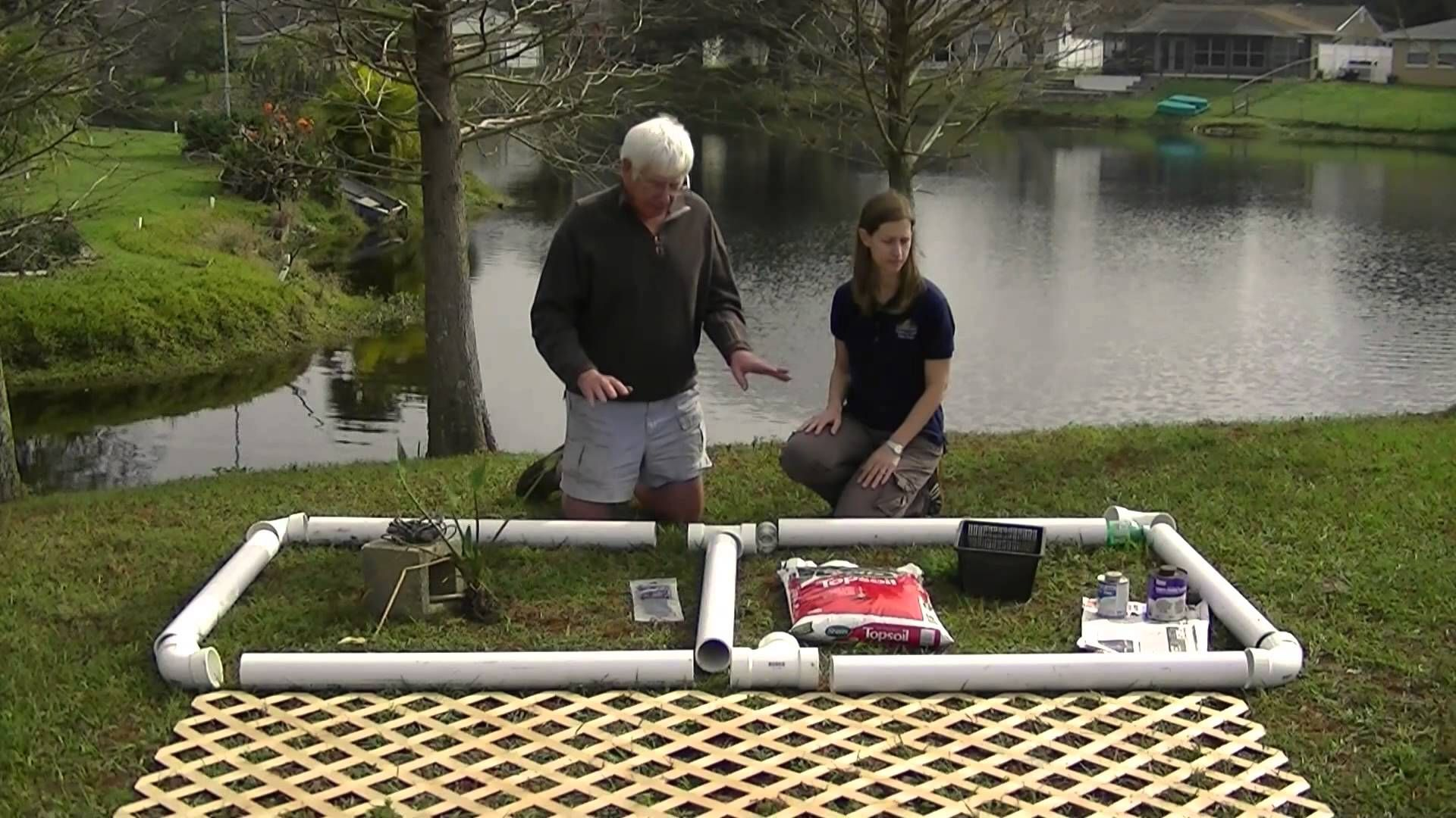 building floating wetland gardens for ponds and dams dams and