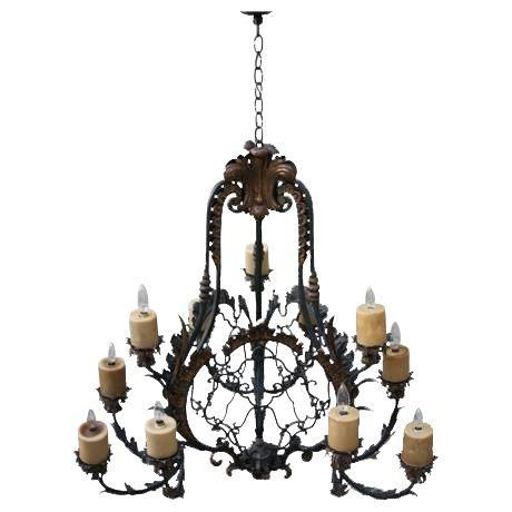 Spanish 12 light wrought iron chandelier wrought iron chandeliers image of spanish 12 light wrought iron chandelier aloadofball Gallery