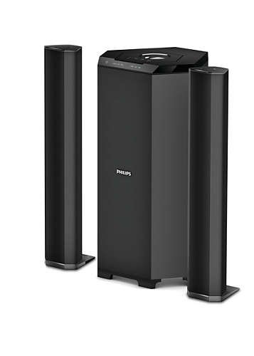 c4a45222cf1 Philips MMS8085B 94 2.1 Channel Convertible Multimedia Speaker System  Price  Buy Philips MMS8085B