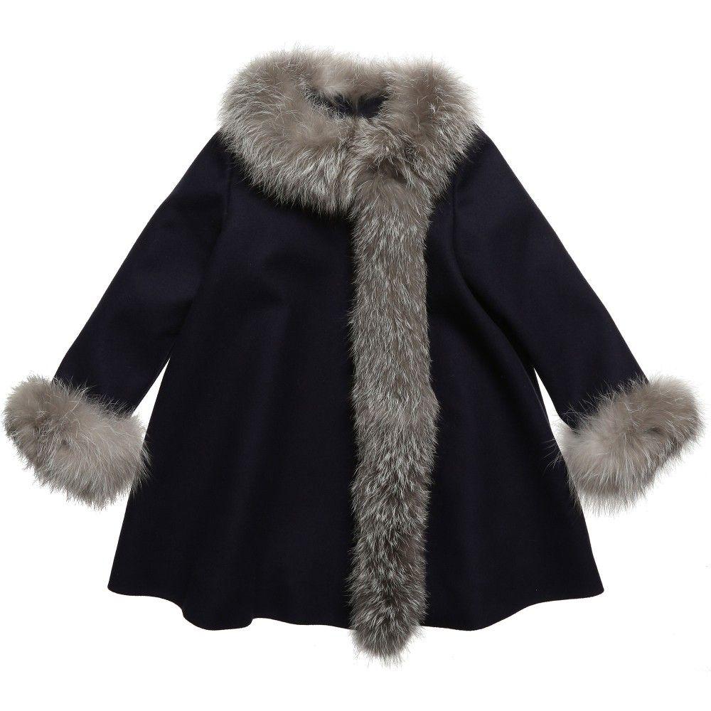 aa89309da Navy blue cashmere coat - Baby Dior | kids | Fur Coat, Coat ...